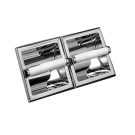 Taymor Twin Recessed Paper Roll Holder - Polished Chrome