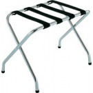 Chrome Luggage Rack w/Black Straps