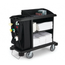 Rubbermaid Executive Traditional Compact Housekeeping Cart - Black