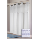 """Escape Hookless Shower Curtain w/Window & Snap-in Liner - 71""""x74"""" - White"""
